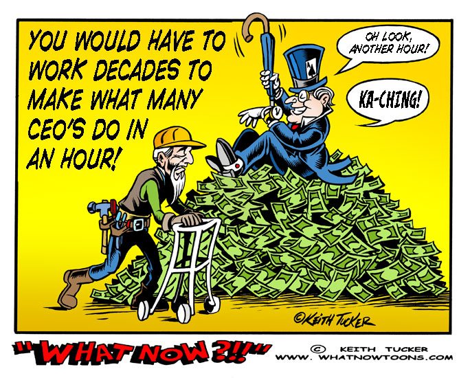 Economic Inequality, Davos, Income Inequality, Oxfam Income Inequality, Oxfam Report, Income Disparity, World Economic Forum, Business News, political cartoons, Taxes, Ronald Reagan, Tax Cuts for the Wealthy, Income Inequality, Selfishness,